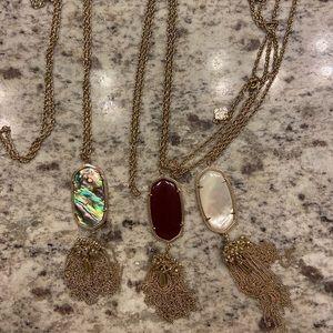 Three (3) Kendra Scott Rayne Necklaces